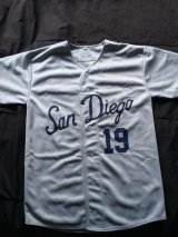 I found this 1965 PCL Padres jersey for sale on eBay by someone who makes jerseys. Even though I'm not a fan of the blue and how similar it is to the modern Padres uniform, I still decided to pick it up, due to how cheap it was. It also helped that he was willing to add any number on it I wanted, so I obviously went with the #19. I'll probably wear at a pickup game at some point or another.