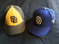 The new 2016 New Era Padres caps.