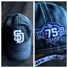 75 year anniversary PCL Padres SGA cap.