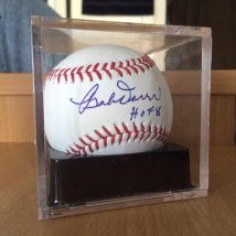 Bobby Doerr autographed ball. Doerr was the second basemen on the original 1936 PCL Padres.