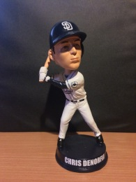 "One of the ""abandoned"" Chris Denorfia Padres bobbleheads from 2014."