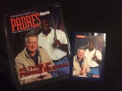 Ted Williams & Tony Gwynn Padre Magazine and postcard.