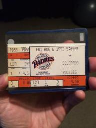 In 1993, Tony Gwynn got hit number #2000 during a doubleheader against the Rockies. I was there and it's still one of my fondest memories of my childhood.