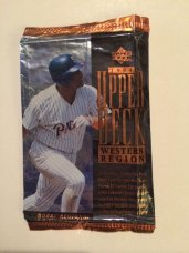 I can't believe I saved this Upper Deck baseball card wrapper from 1994, featuring Tony Gwynn.