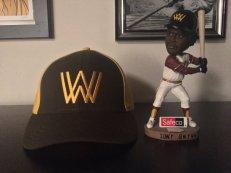 1981 Walla Walla Padres cap from @Ebbets Field Flannels & Tony Gwynn Walla Walla Padres bobblehead.