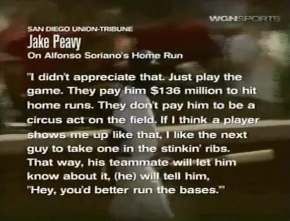 Jake Peavy vs Alfonso Soriano